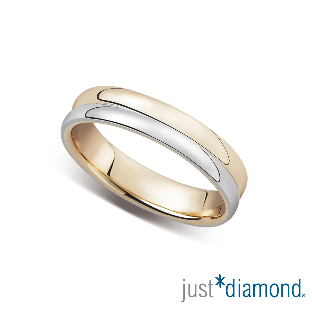 Just Diamond浪漫序曲 18K雙色金男女對戒- 男戒