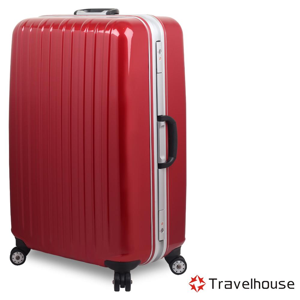 Travelhouse COLORS 29吋視覺享宴PC鋁框硬殼行李箱(紅)