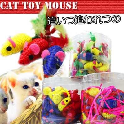 貓用玩具鼠*3隻(3種造型隨機出貨)