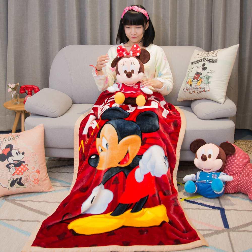 Disney熱情米奇 頂級加厚法蘭絨休閒毯