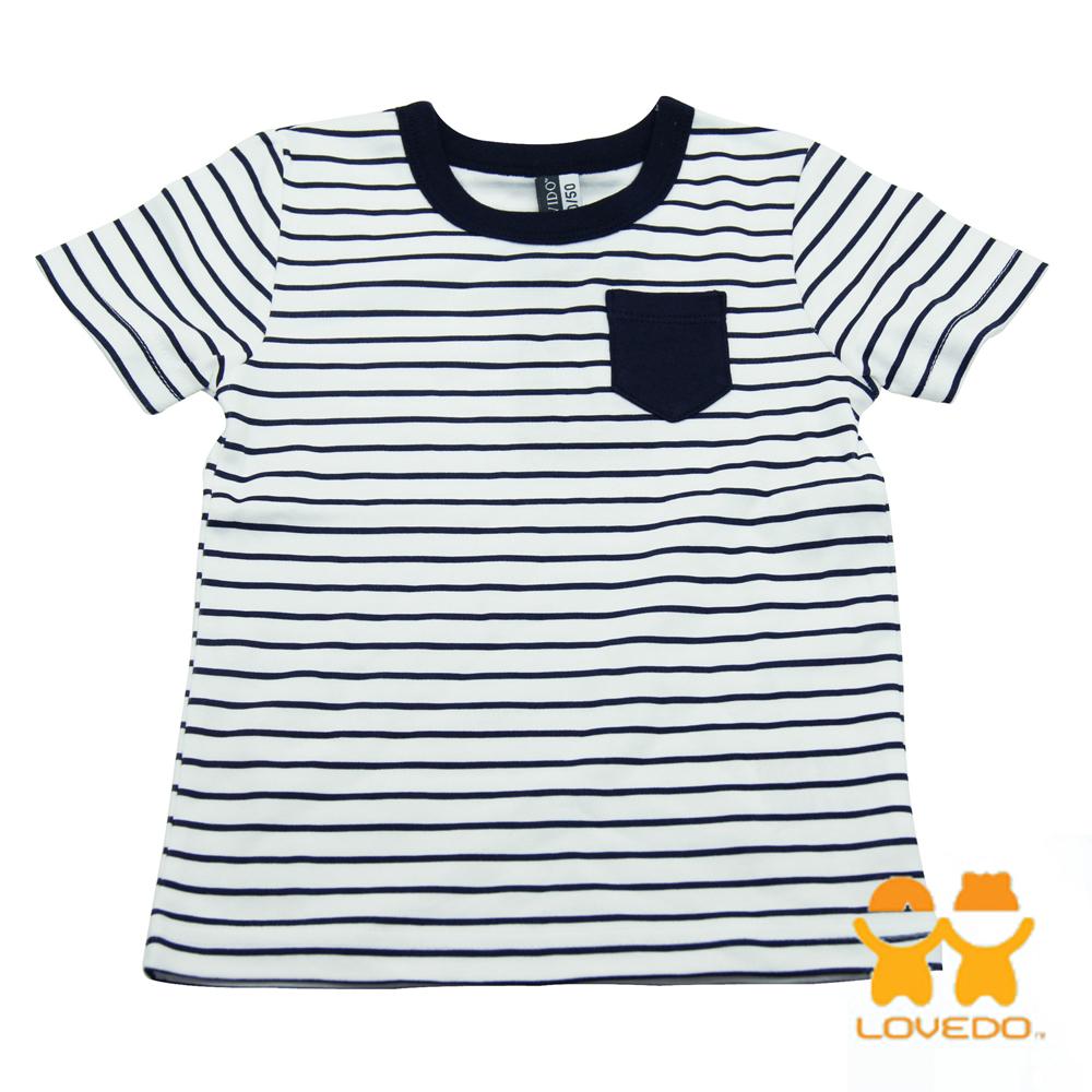 【LOVEDO艾唯多童裝】簡易時尚 短袖T恤 (白)