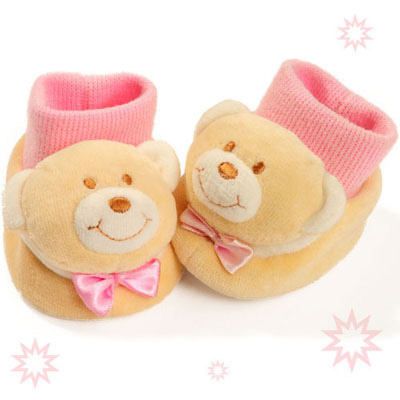 澳洲baby bow-粉熊寶寶鞋襪(0-6個月)