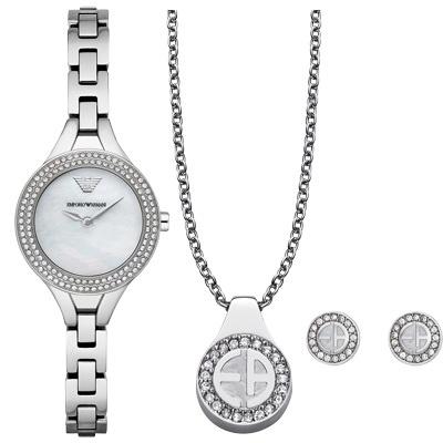 EMPORIO ARMANI 人魚呢喃晶鑽時尚腕錶-AR8038/29mm