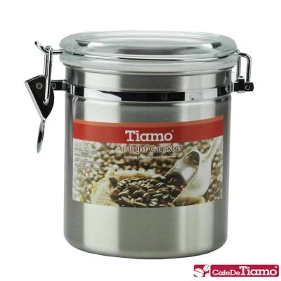 Tiamo 不鏽鋼密封罐1磅-砂光款 (HG2535ST)