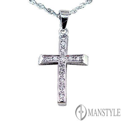 MANSTYLE「祈禱」十字架鑽墜
