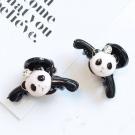 梨花HaNA 韓國可愛小熊貓頭上一顆鑽小抓夾4CM