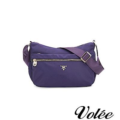 Volee飛行包 - 好旅行系列拉鍊肩背包-法國紫