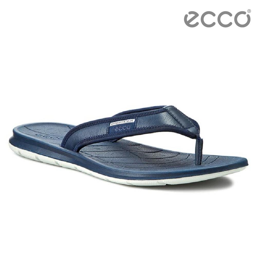ECCO INTRINSIC TOFFEL 休閒人字拖鞋-深藍