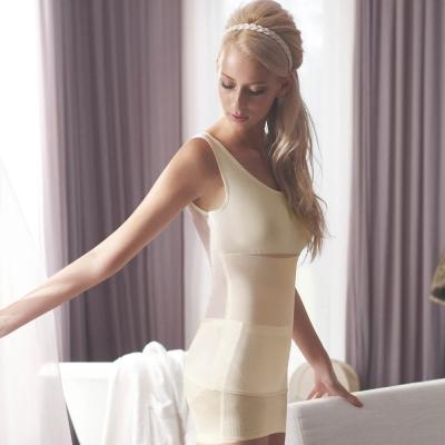 曼黛瑪璉-羽涼級‧輕鬆塑  中機能防胃凸背心(花漾膚)