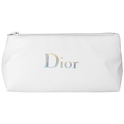Dior 迪奧 乳白空氣筆袋包(銀字)