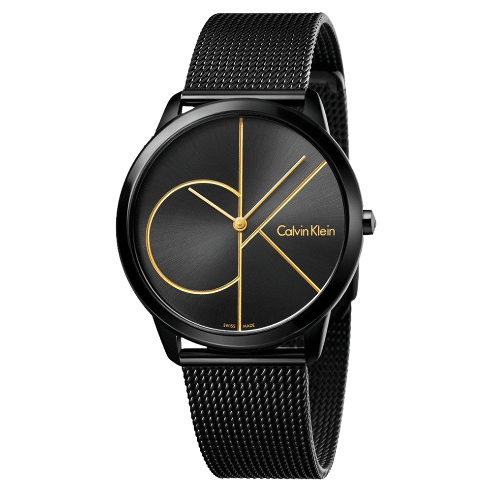 Calvin Klein CK Minimal 經典大LOGO米蘭帶手錶 K3M214X1
