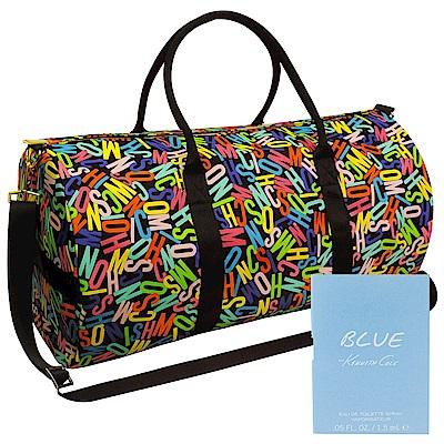 MOSCHINO繽紛彩繪旅行袋+隨機針管香1入