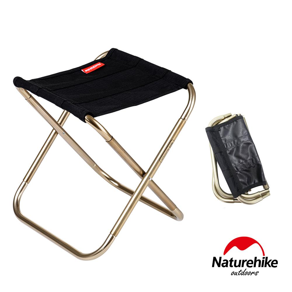 Naturehike L012超輕量便攜式收納鋁合金折疊椅 釣魚椅 黑色-急