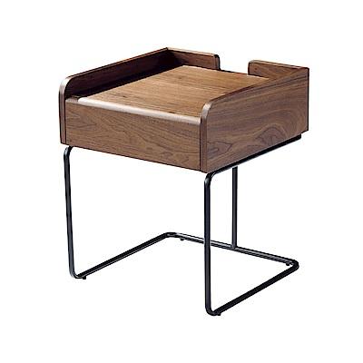 品家居 菲堤思1.5尺木紋小茶几(二色可選)-46x46x55cm免組