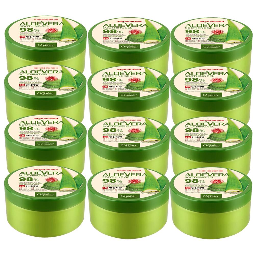Organia歐格妮亞 蘆薈98%舒緩保濕凝膠300gx12入