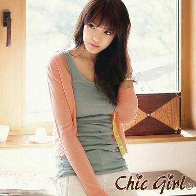 【Chic Girl】粉嫩糖果色短版針織罩衫 (共三色)