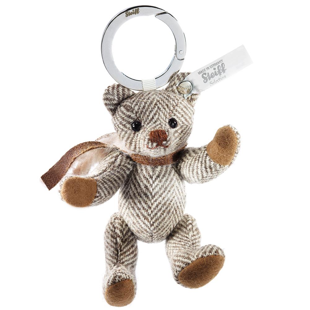 STEIFF德國金耳釦泰迪熊 - 紳士皮革泰迪熊吊飾 (10cm)