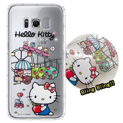 正版凱蒂貓 Samsung Galaxy S8 夢幻童話 彩鑽氣墊手機殼(遊樂園...