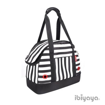 IBIYAYA依比呀呀-壓馬路寵物保齡球包-黑白條紋 (FC1580-BK)