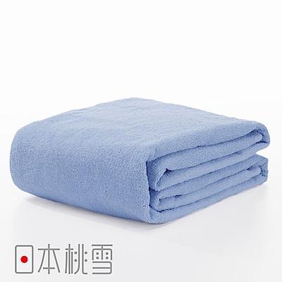 日本桃雪飯店超大浴巾(藍色)