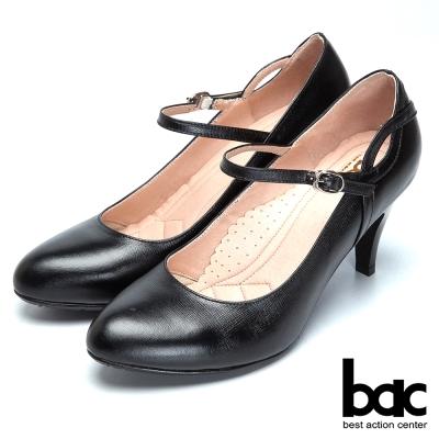 bac上班甜心-精緻典雅瑪莉珍高跟鞋-黑
