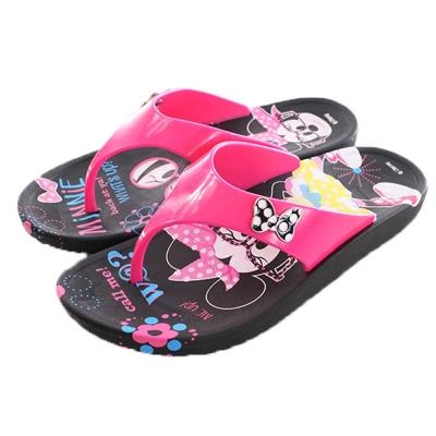 迪士尼米妮夾腳拖鞋 黑 sk0133 魔法Baby