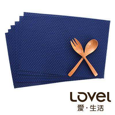 LOVEL 歐美風手作編織感餐墊-經典寶藍(2入組)