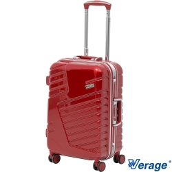 Verage 維麗杰 20吋科技炫彩深框旅行箱 (紅)