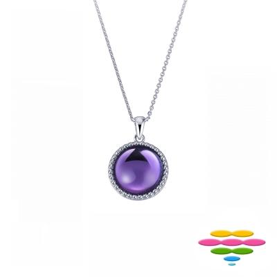 彩糖鑽工坊 紫水晶項鍊 寶石項鍊