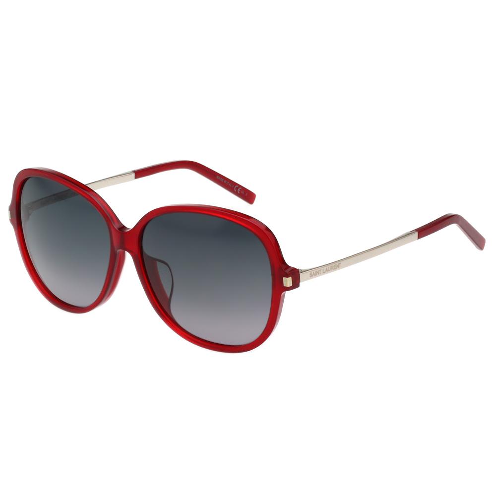 Saint Laurent Paris 復古圓面 太陽眼鏡(紅色)SL23F
