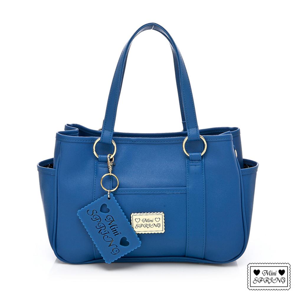 MINISPRING經典法式餅乾LovE9~2way購物包(小)-藍