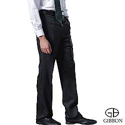 GIBBON 簡約防寒刷毛平口西裝褲‧暗藍30-42