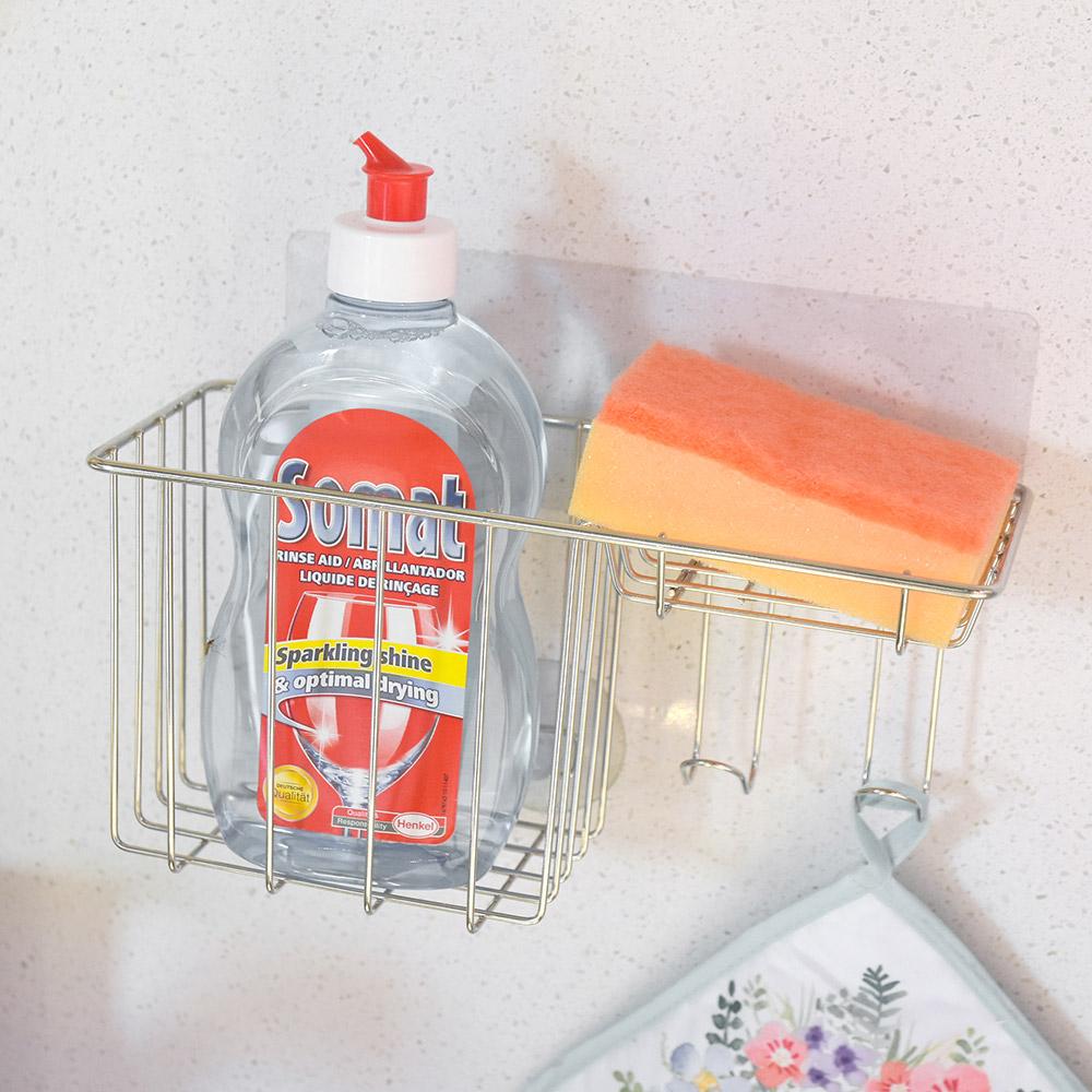 完美主義 洗碗精架/菜瓜布架/掛勾/微透貼面(2入組)-24x9.5x11.5