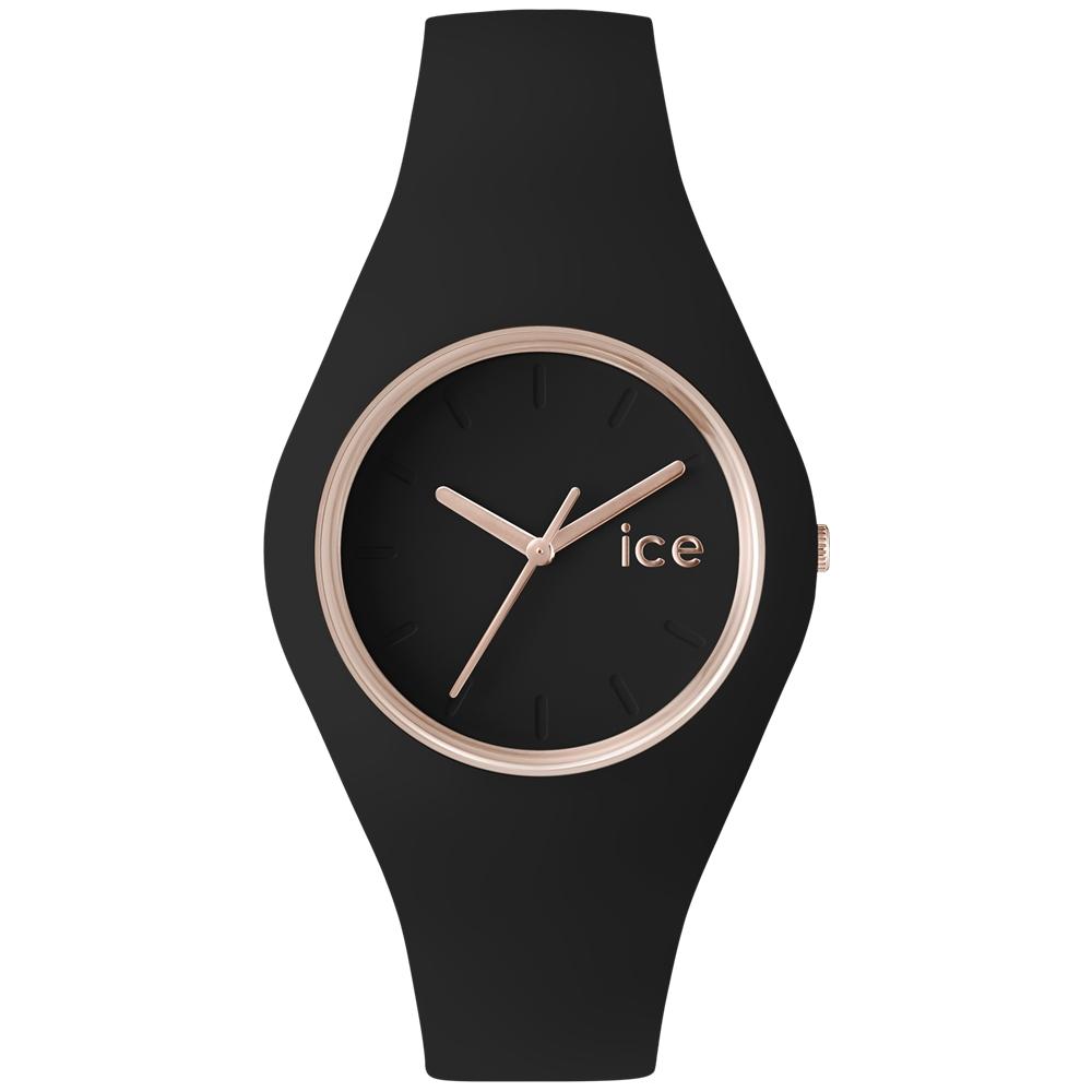 Ice-Watch 亮采系列 優雅名媛手錶-黑x玫瑰金/43mm