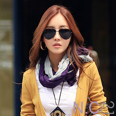 N.C21-皺紋網紗質感素色圍巾 (共六色)
