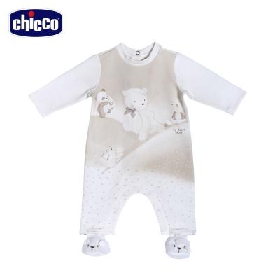 chicco熊嘜吉後開兔裝+腳套(3個月-12個月)