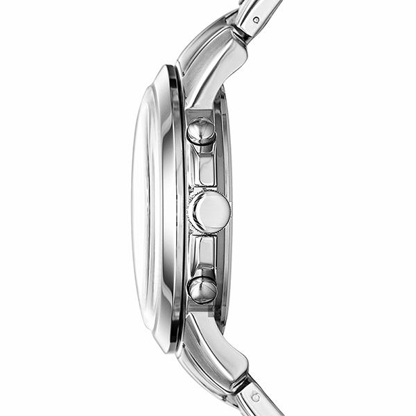 FOSSIL Grant 旗艦三眼計時手錶(FS4736IE)-黑x銀/44mm