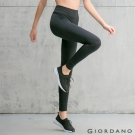 GIORDANO 女裝G-MOTION透氣修身運動內搭褲-03 標誌黑色