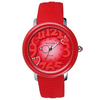 Roven Dino羅梵迪諾  漫步星雲時尚輕質量腕錶-紅/39mm