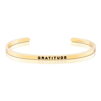 MANTRABAND GRATITUDE 感恩的心 金色手環 附原廠盒