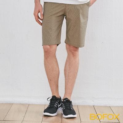 BOFOX 直條紋休閒短褲-卡其