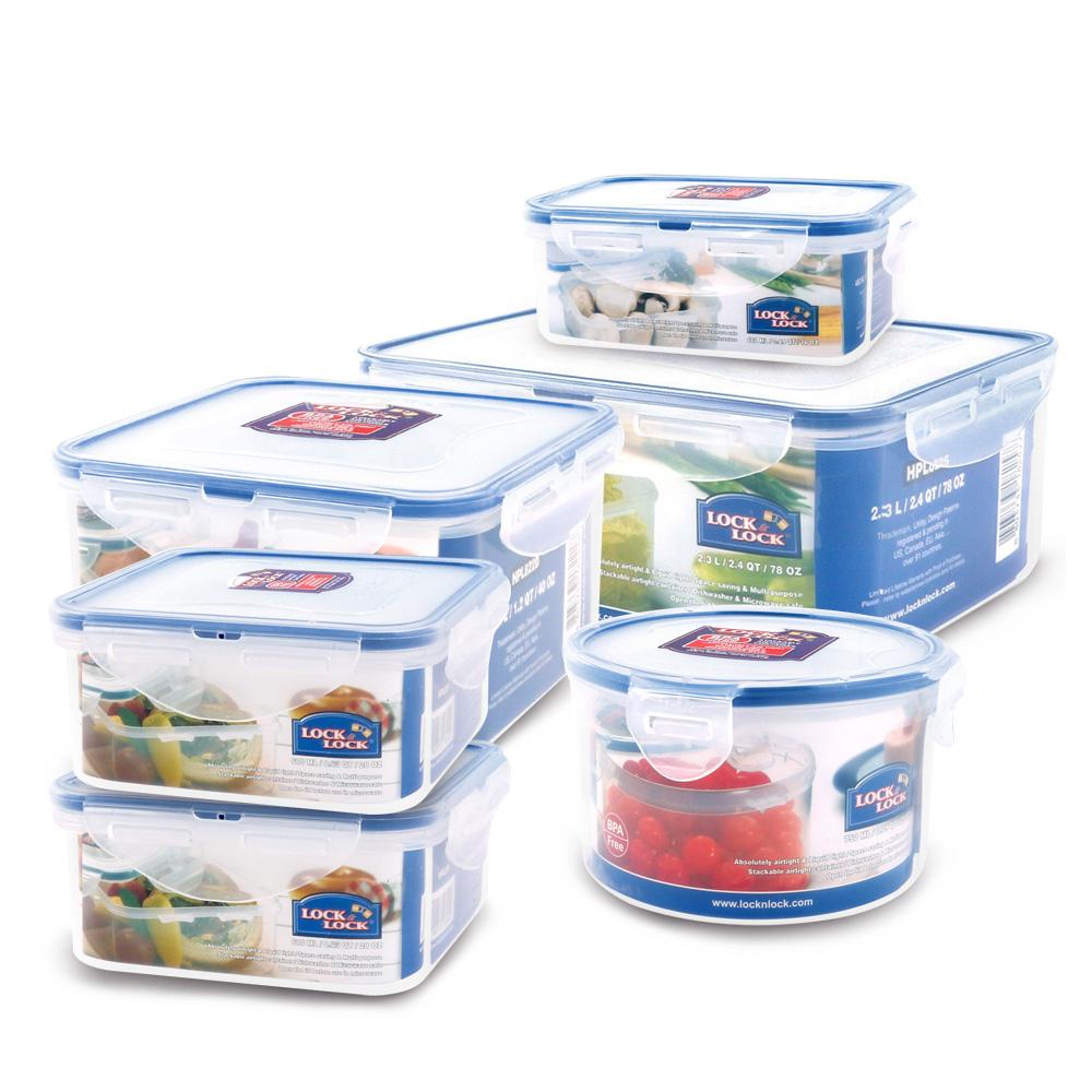 樂扣樂扣 輕鬆收納PP保鮮盒六件組(快)