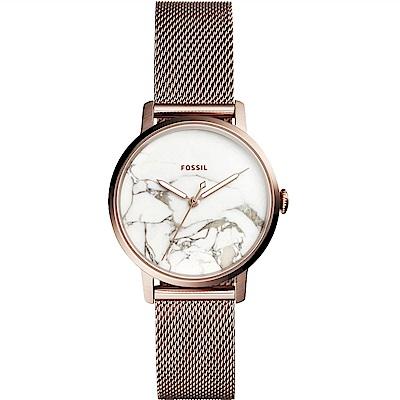 Fossil Jacqueline 大理石紋時尚米蘭帶女錶(ES4404)-34mm