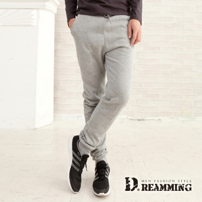 Dreamming 修身優選厚磅刷毛休閒運動棉褲-共五色