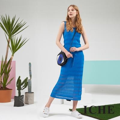 ICHE 衣哲 時尚休閒針織長版百搭造型洋裝