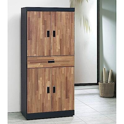 H&D 雙色集層木6尺高鞋櫃 (寬80X深39X高182cm)