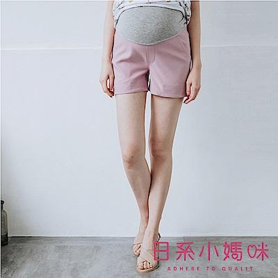 日系小媽咪孕婦裝-孕婦褲~都會時尚側開衩挺版短褲 M-XXL (共三色)