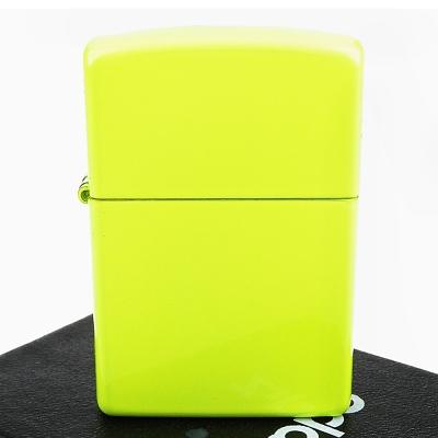 【ZIPPO】美系~Neon Yellow-霓虹黃烤漆加工打火機