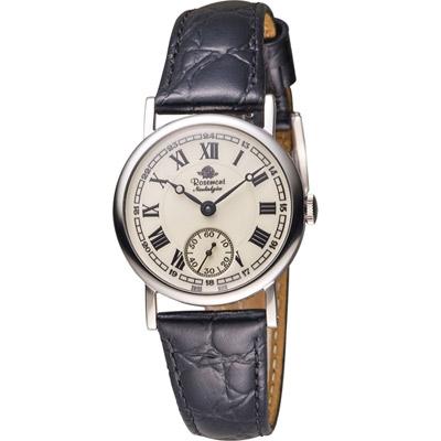 Rosemont 戀舊系列 經典復刻時尚腕錶 -黑色/33mm