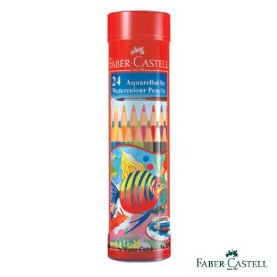 Faber-Castell紅色系水性彩色鉛筆-24色精緻棒棒筒裝